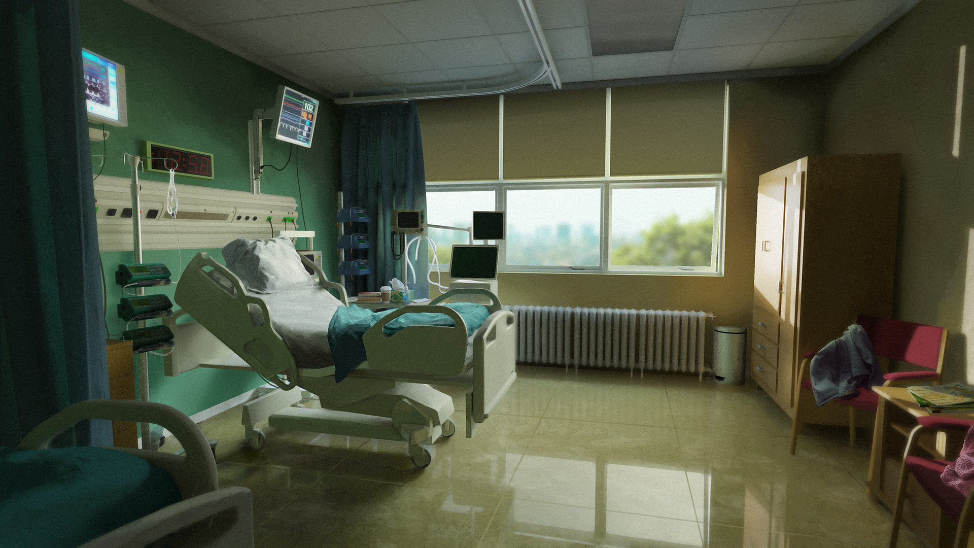 Hospital room Interior for OSCE proposal