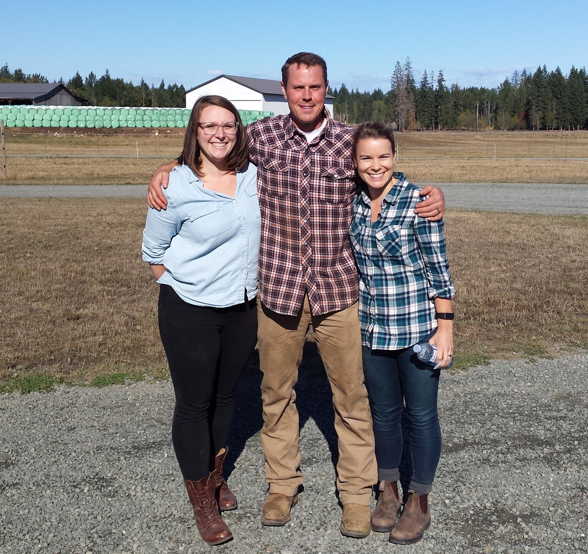Elizabeth, Marc & I at Island Bison Ranch