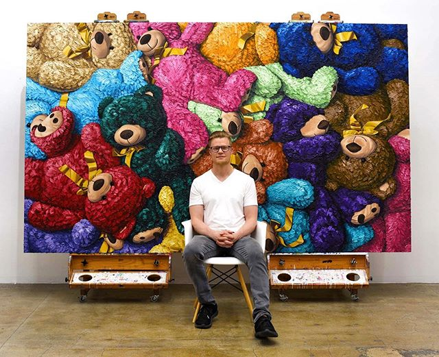 """🐻🐻🐻 I love the entire process of painting however, admittedly, I Really love to sit back and appreciate the final, completed piece... I am very proud of this one 😜😜😜🐻🐻🐻🎨🎨🎨 oil on panel, 72""""x120"""" (183cm x 305cm) All enquires please email ✉️ info@jameswrightgallery.com ✉️ www.brentestabrook.com 