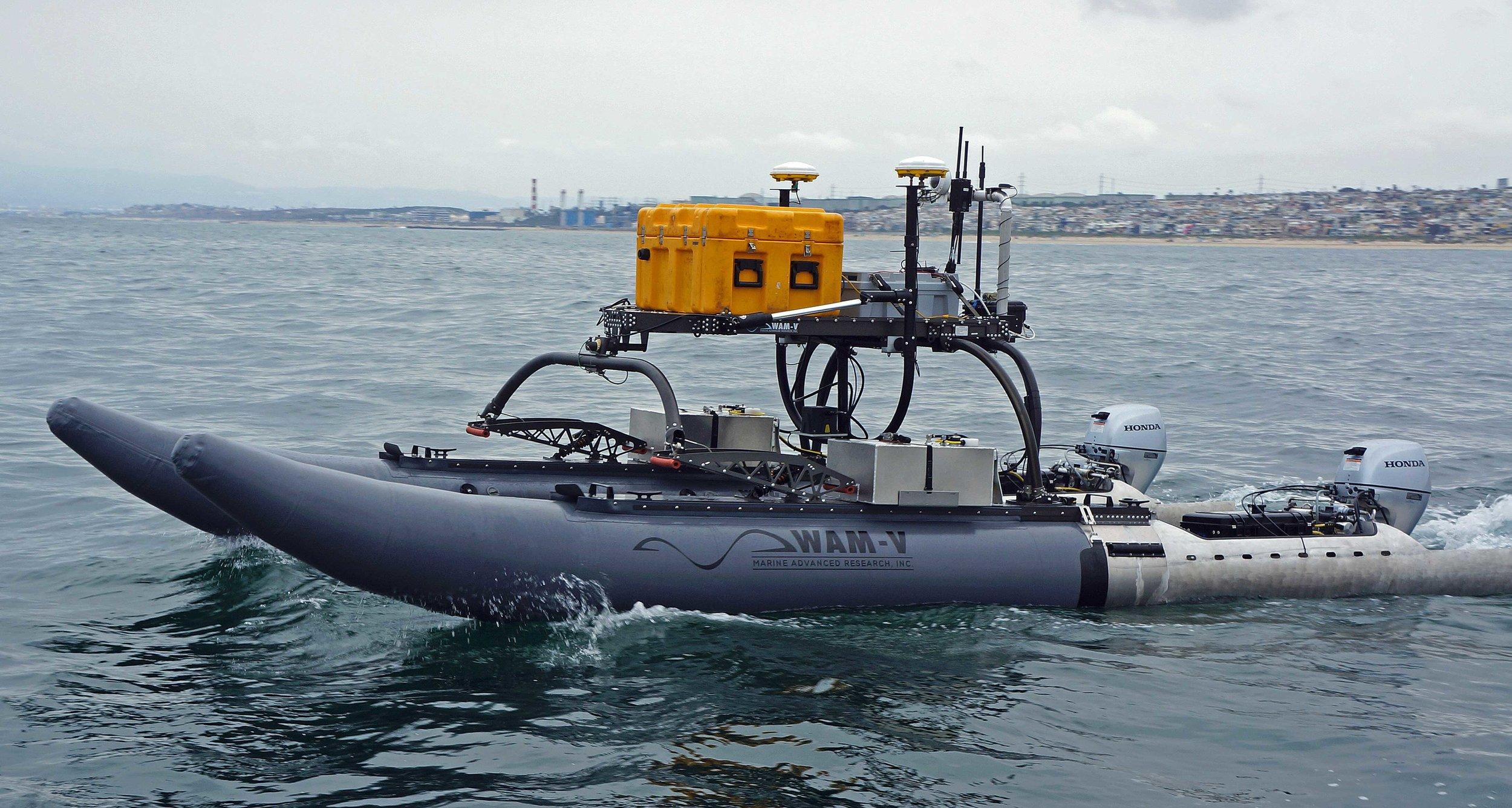 WAM-V 20 ASV Marine Infrastructure Survey