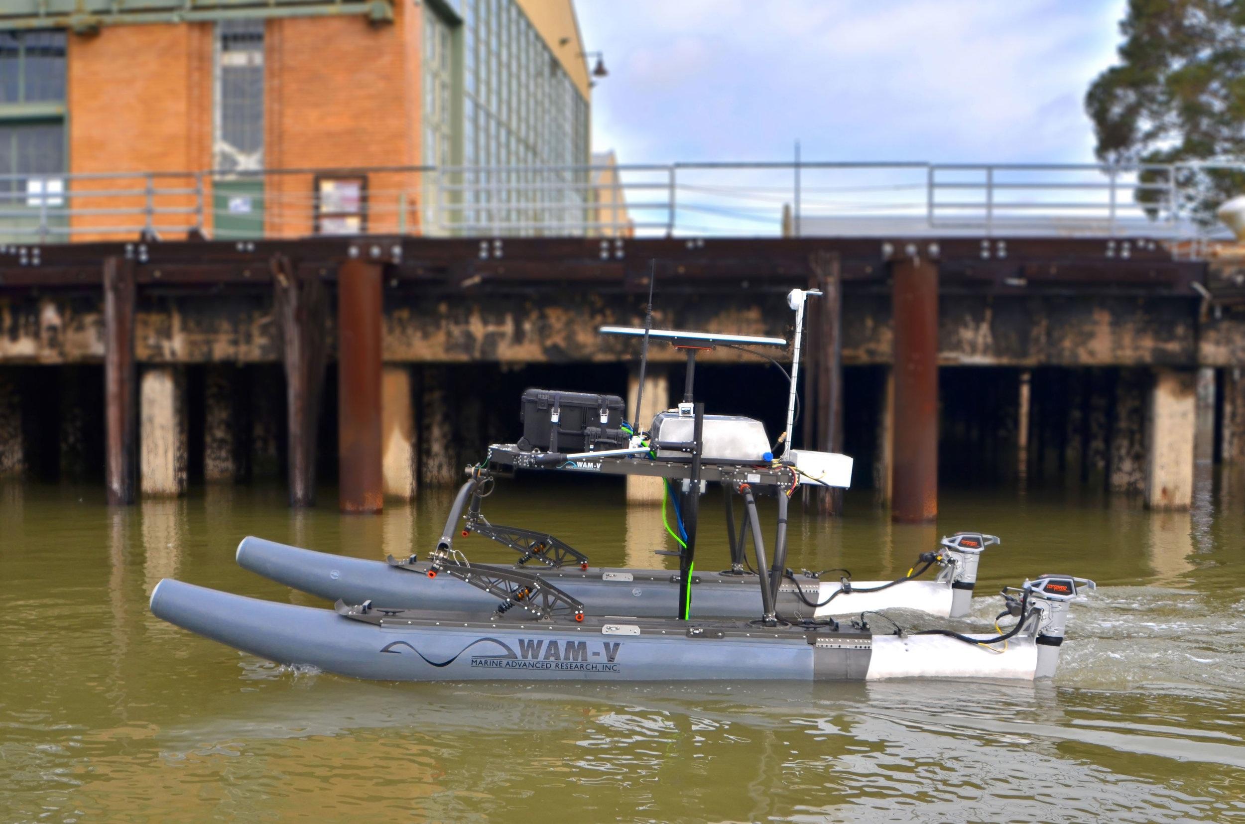 WAM-V 16 ASV with Kongsberg M3 Multibeam Echosounder