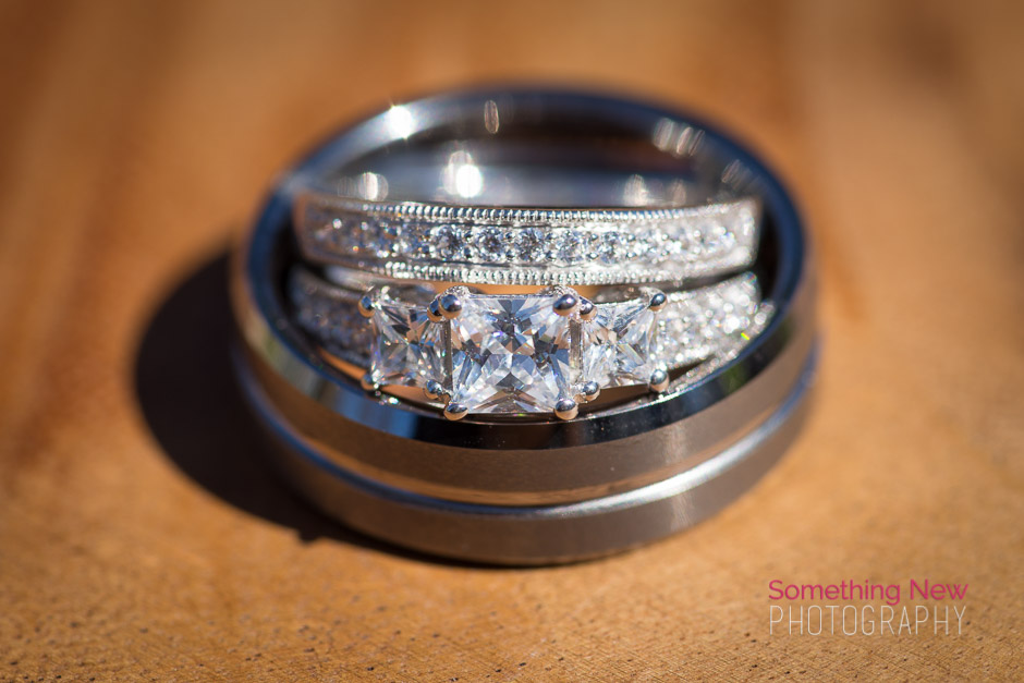His & Her Wedding Rings Stacked