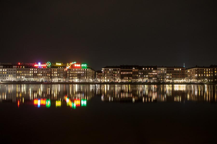 The Lakes (Søerne) at Night, Copenhagen
