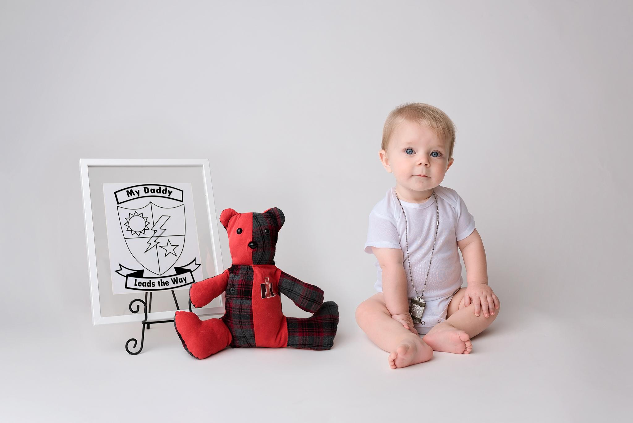 Seattle Baby Photographer Army Ranger Photo