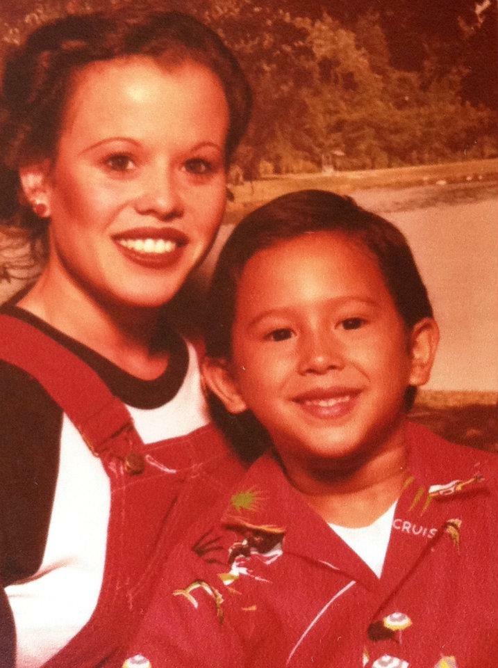 Felicitas with her oldest son, Fernando.