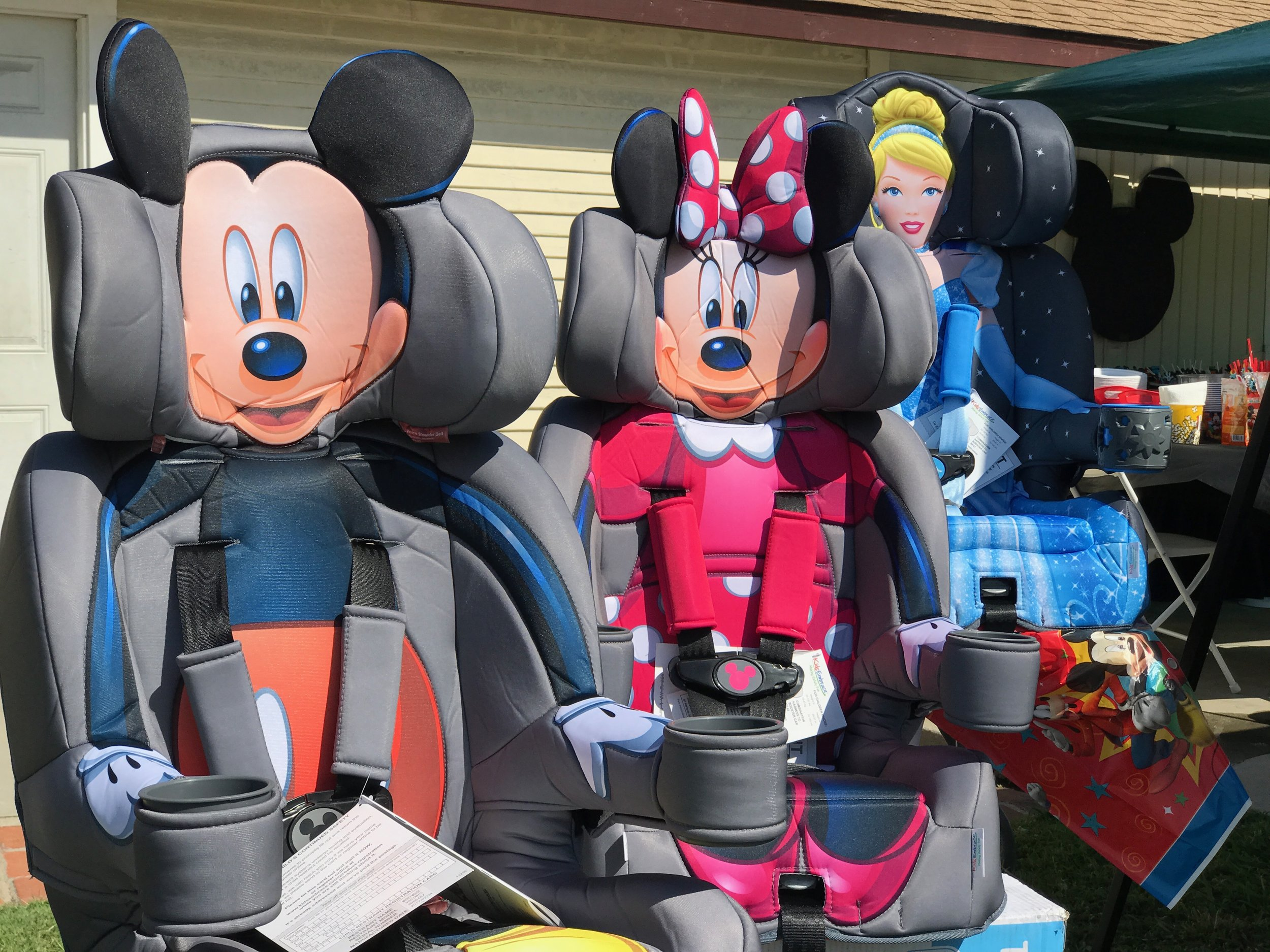 Kids Embrace  character car seats.