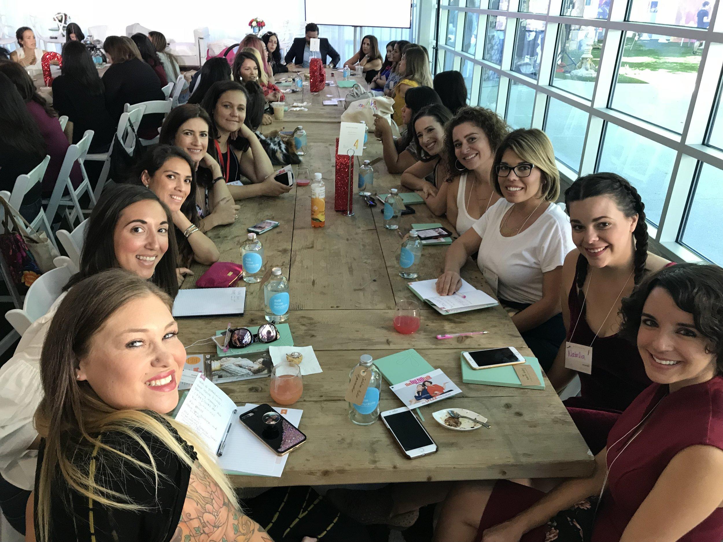 Mentor tables with Jacqui Saldana of Baby Boy Bakery