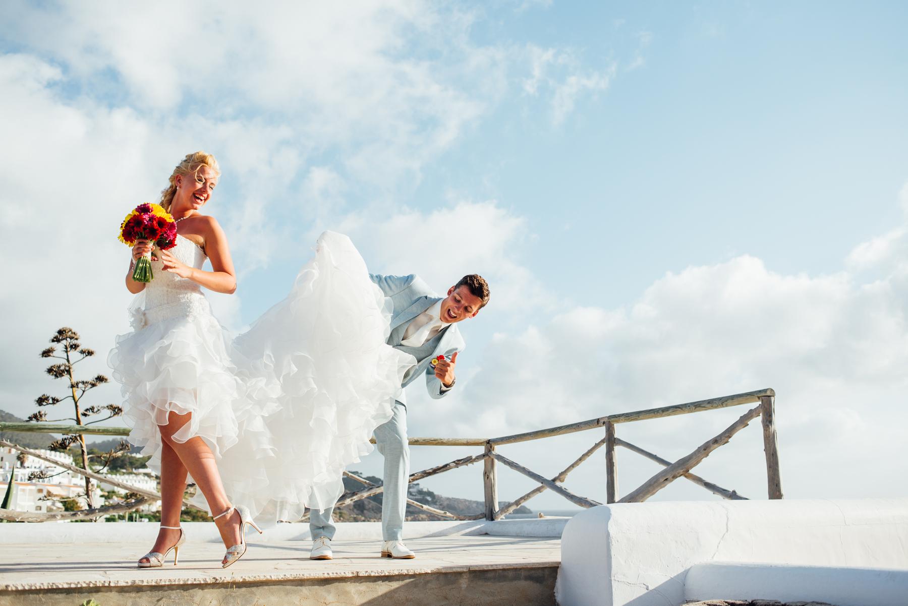 Ibiza white wedding dress