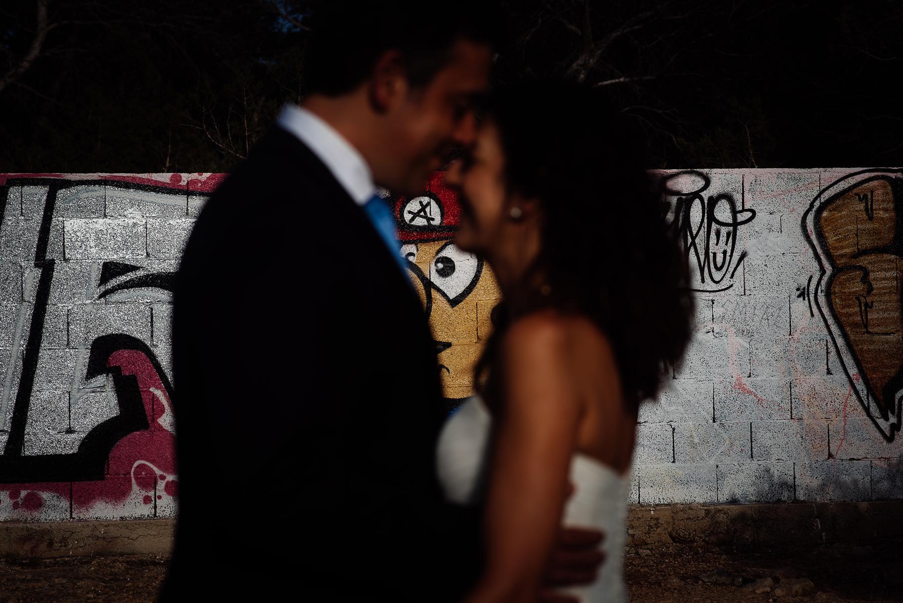 mario is looking at bride