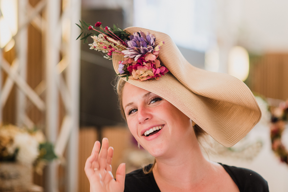 Marina, headdress from   Begonias Flores