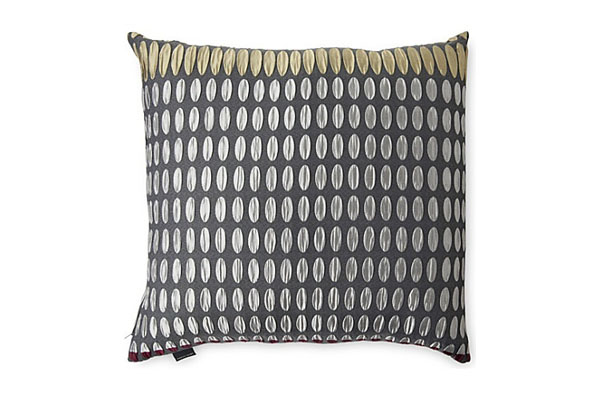 Gunmetal cushion by Margo Selby  - Selfridges 