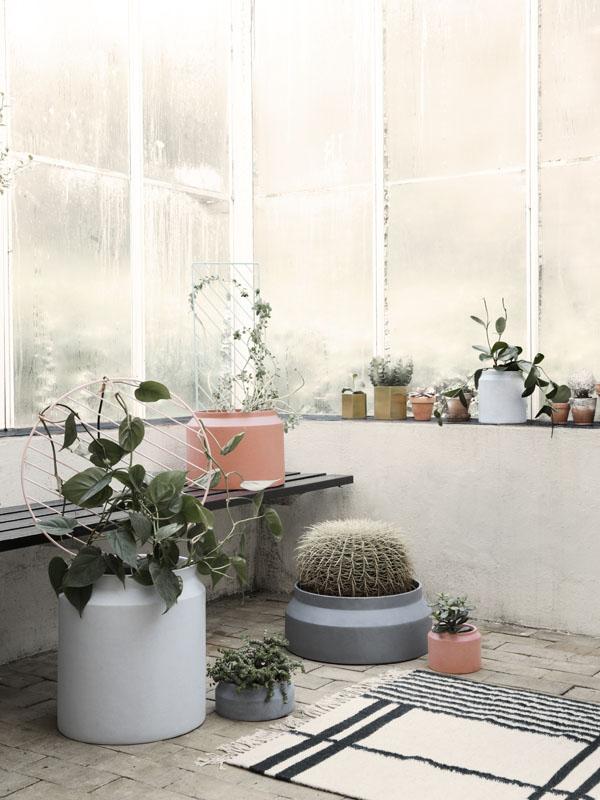 Ferm Living concrete plant pots   Design Hunter