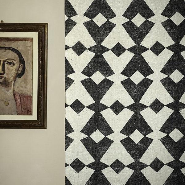 Dedar Tangram   tribal inspired geometric motif   Design Hunter