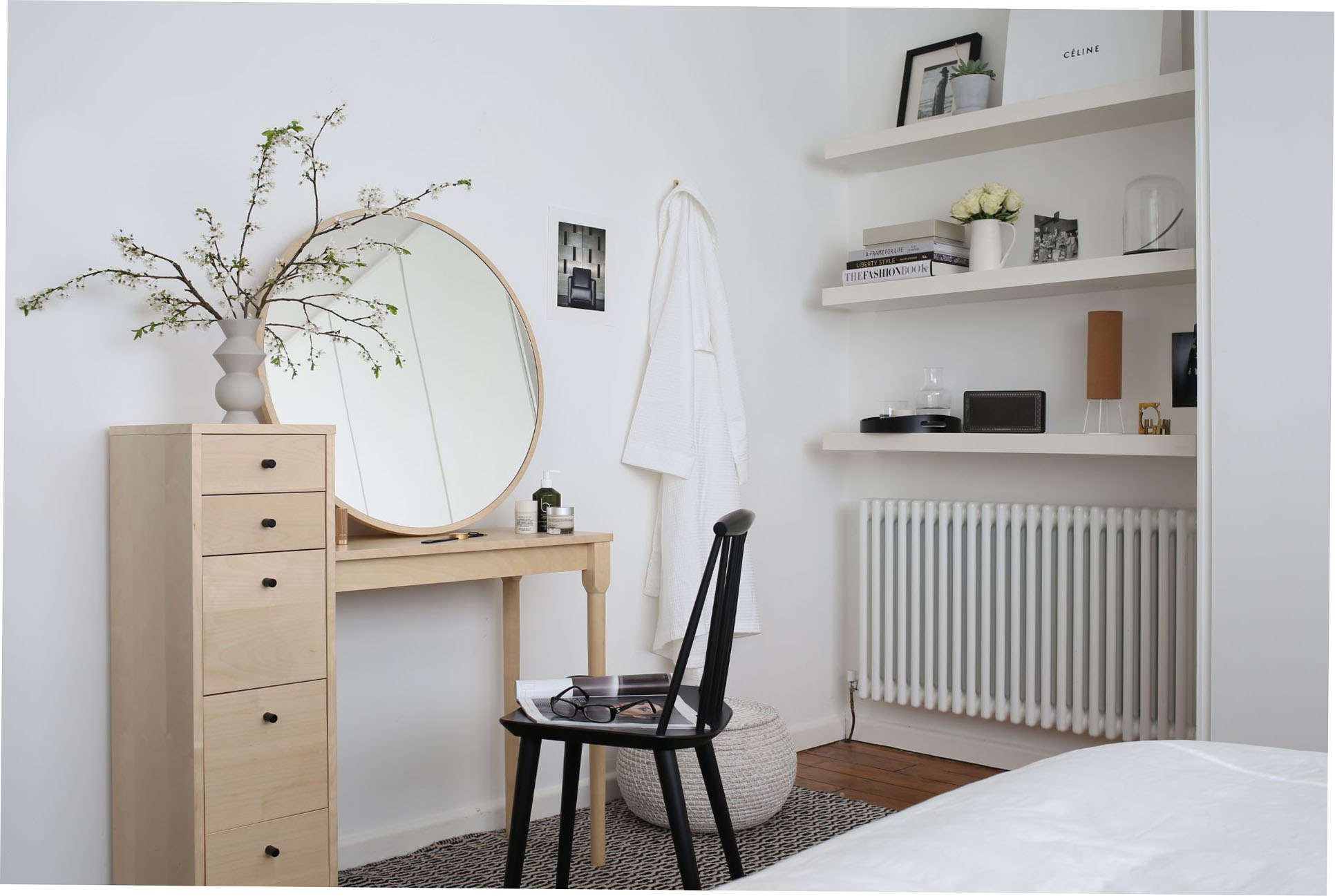 Habitat dressing table in white bedroom | Design Hunter