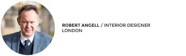 Interior designer Robert Angell