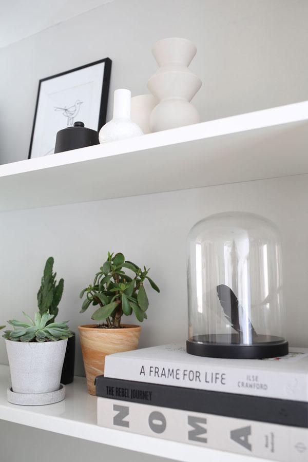 Succulents and books on shelf | Design Hunter