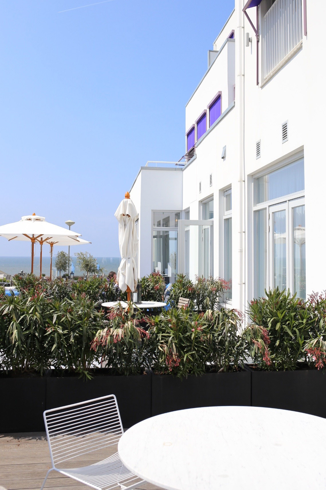 Garden terrace at Vesper Hotel | Design Hunter