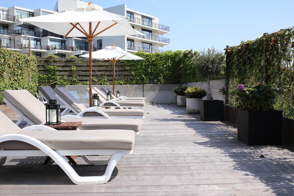 Sun terrace at Vesper Hotel Noordwijk | Design Hunter