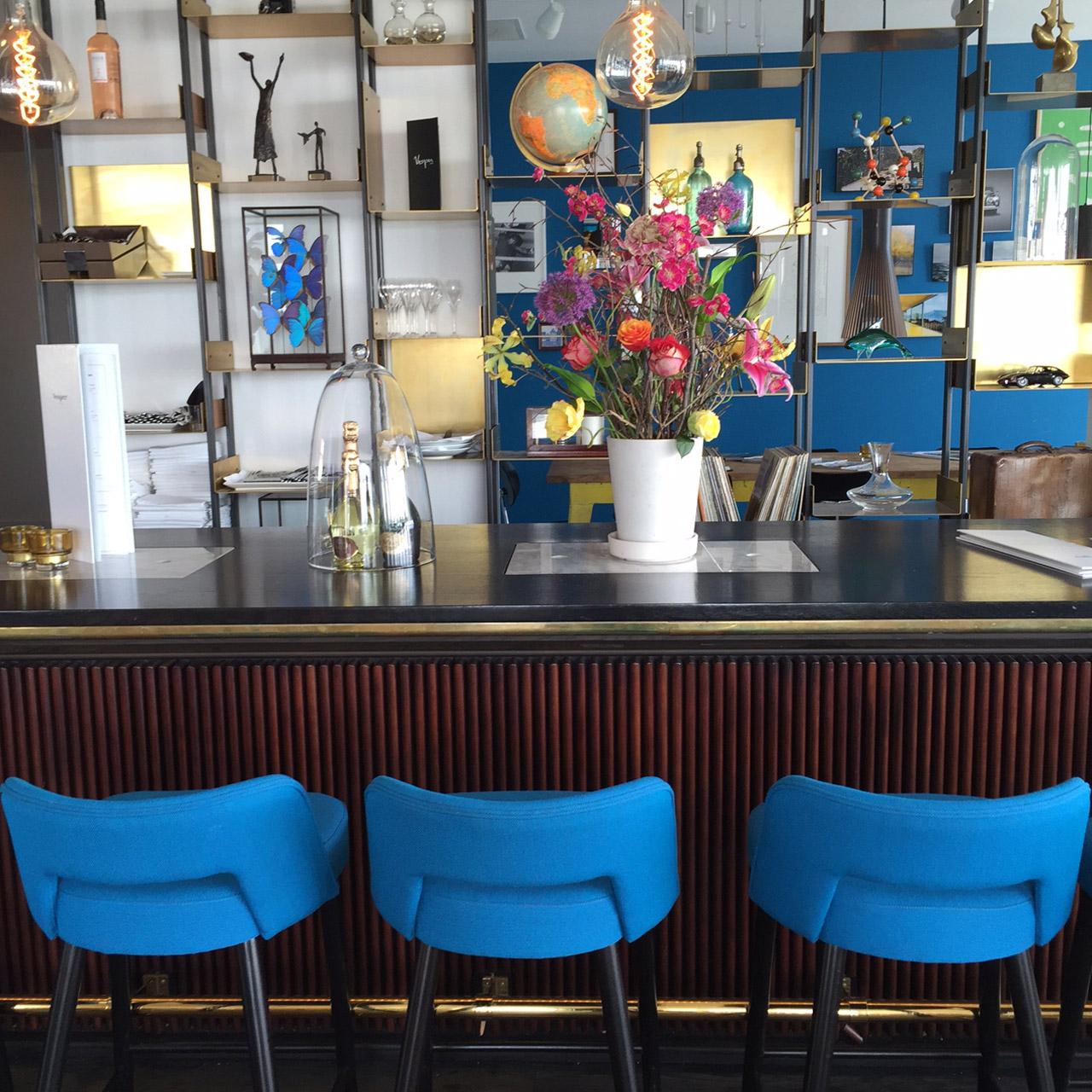 The bar at Vesper Hotel Noordwijk | Design Hunter