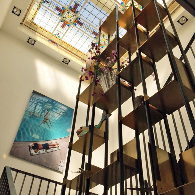 Stained glass skylight at Vesper Hotel | Design Hunter