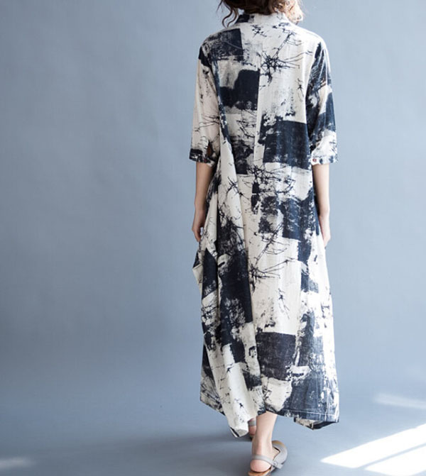 Loose long summer maxi dress