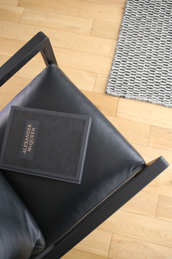 Black leather armchair by Camerich   Design Hunter
