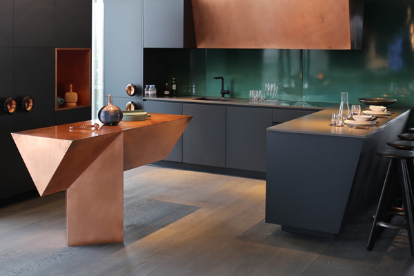 Copper kitchen Tom Dixon penthouse Greenwich Peninsula | Design Hunter