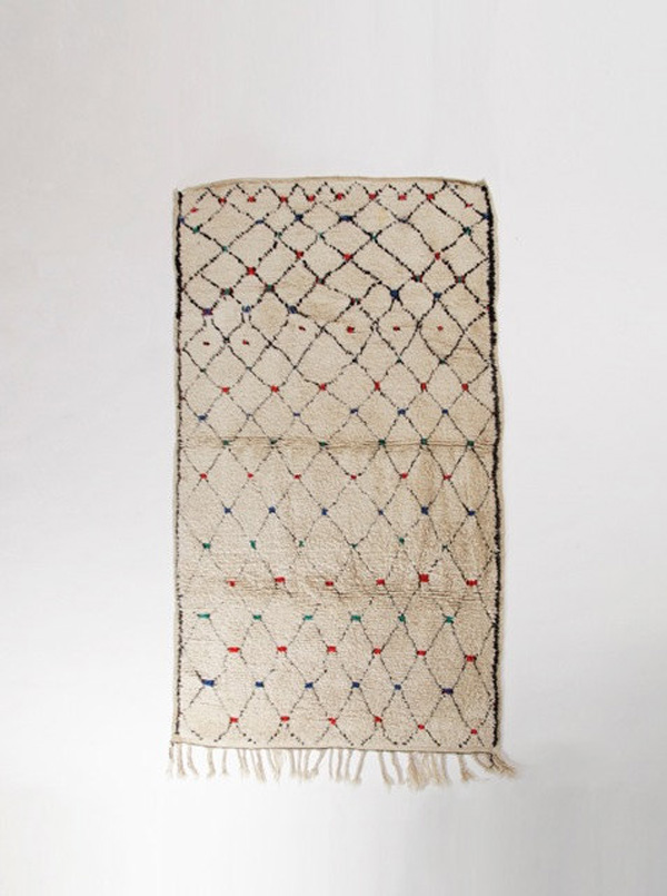 Vintage Berber Beni Ourain Rug
