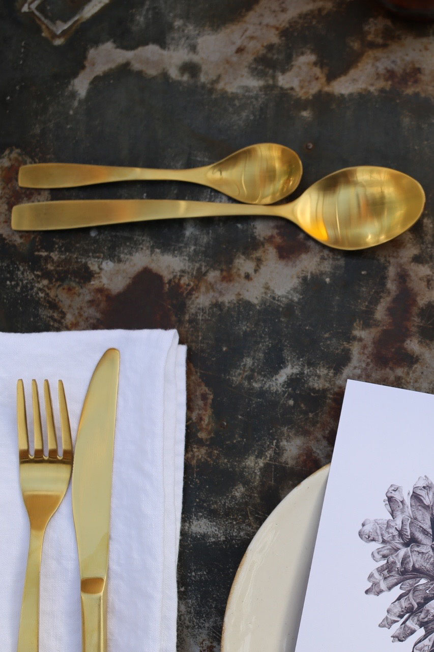 Gold cutlery by House Doctor