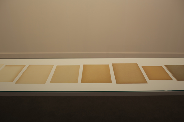 Diez paginas blancas (Ten white pages) by Ignasi Aballi | Frieze London 2015