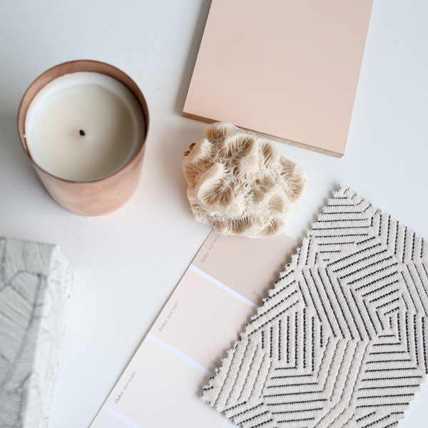Blush tone colour swatches | Design Hunter
