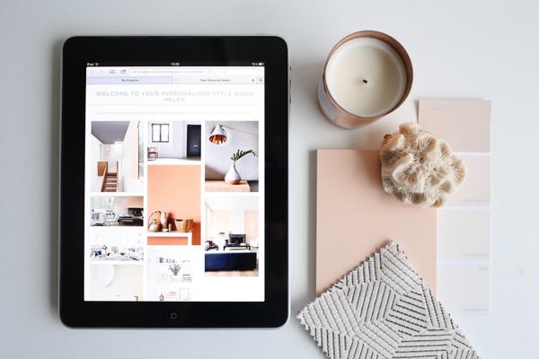 Blush interiors moodboard | Design Hunter