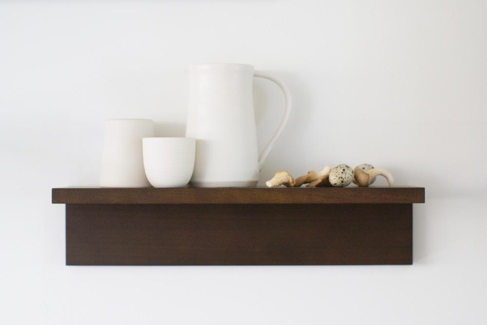 Muji shelves styled by Design Hunter