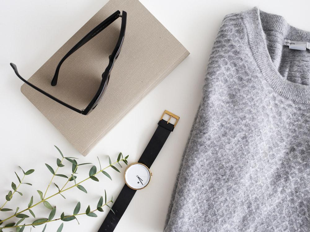 Minimal monochrome wardrobe essentials