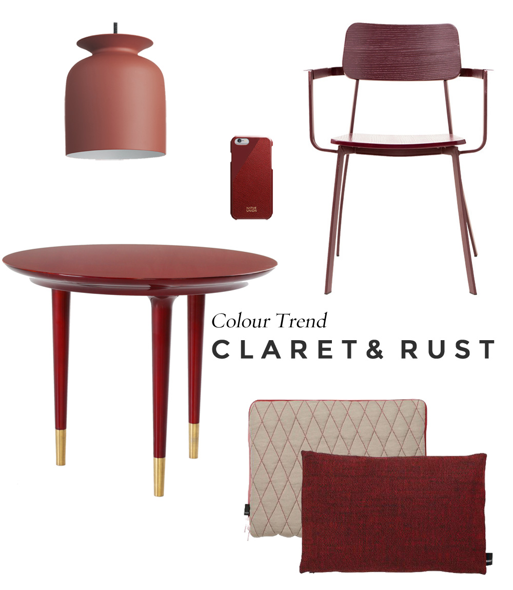Colour Trend | Claret and Rust