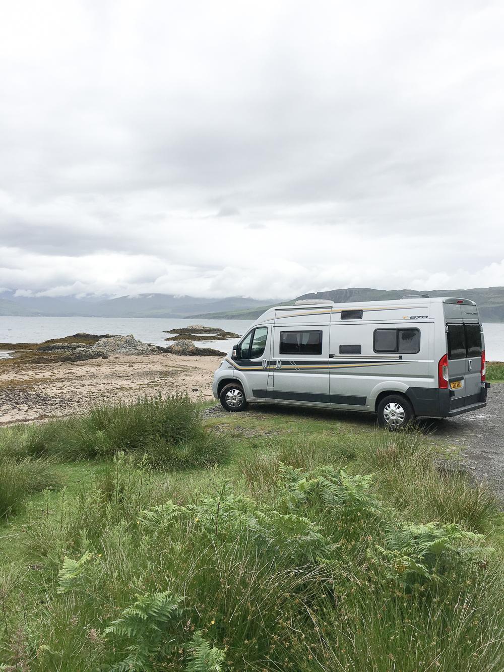 Camper van on Scottish road trip | Design Hunter