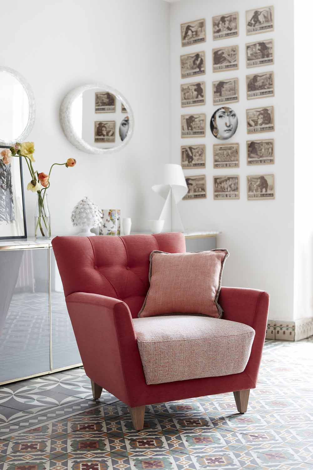 Pink Bowie chair by G Plan | Design Hunter