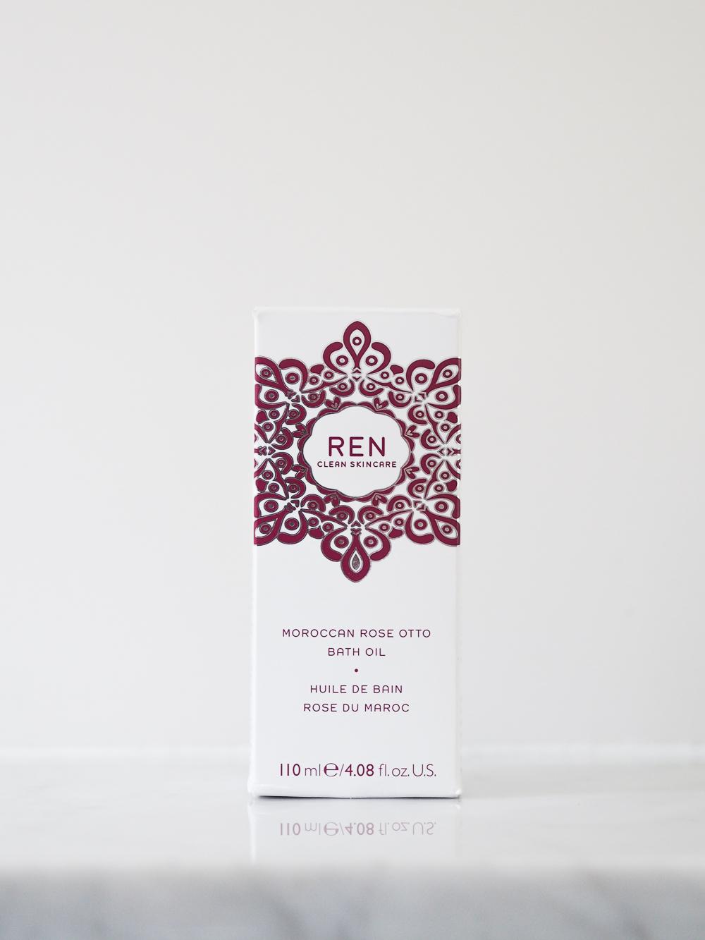 REN Moroccan Rose Otto Bath Oil review | Design Hunter