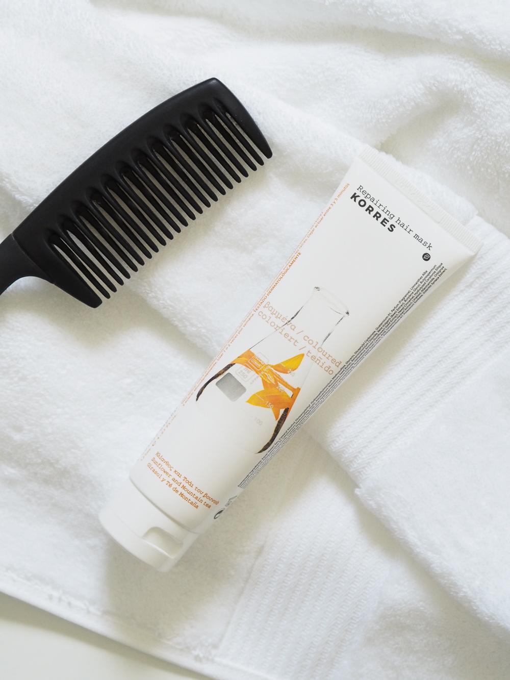 Korres repairing hair mask | Design Hunter