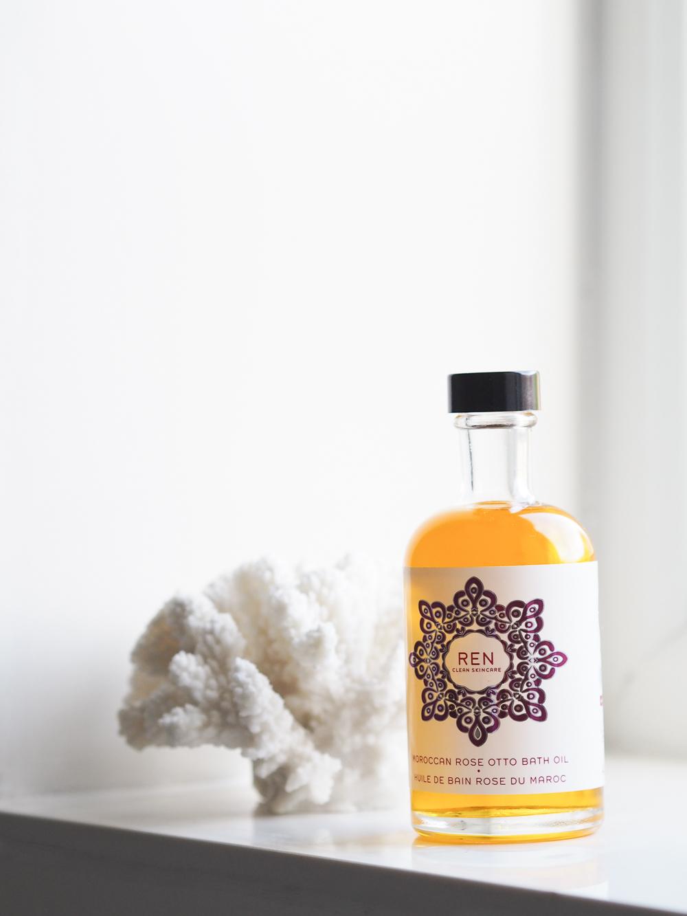 REN Moroccan Rose Otto Bath Oil | Design Hunter