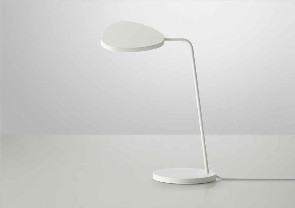 Muuto white leaf table lamp