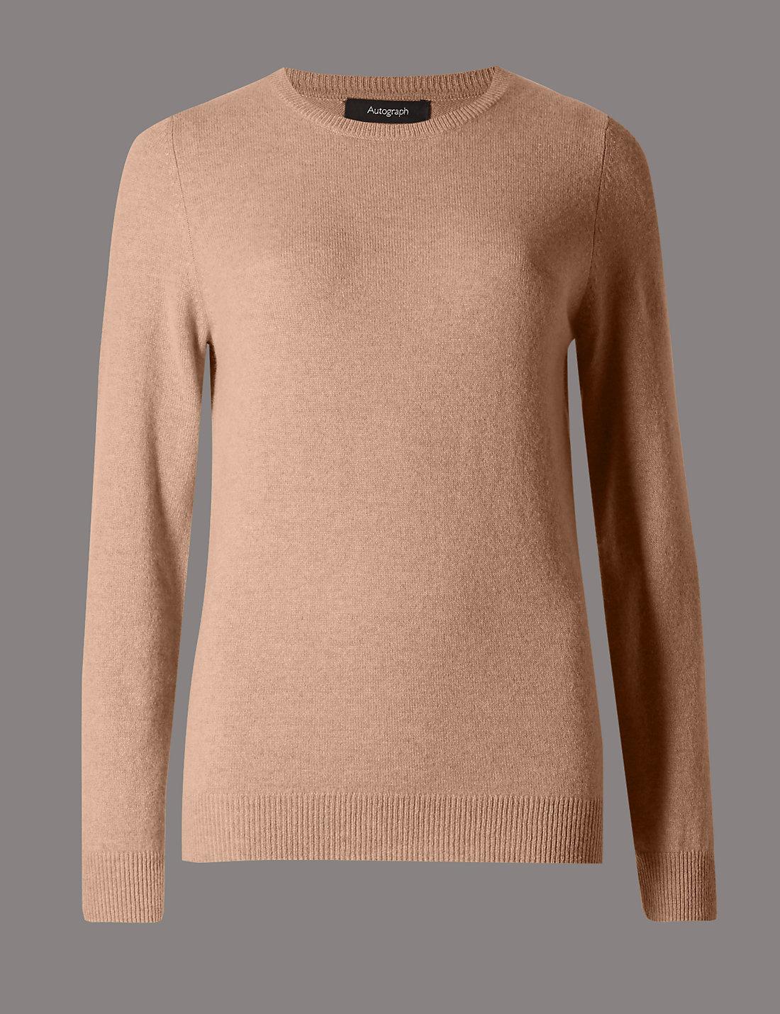 Camel cashmere jumper | M&S