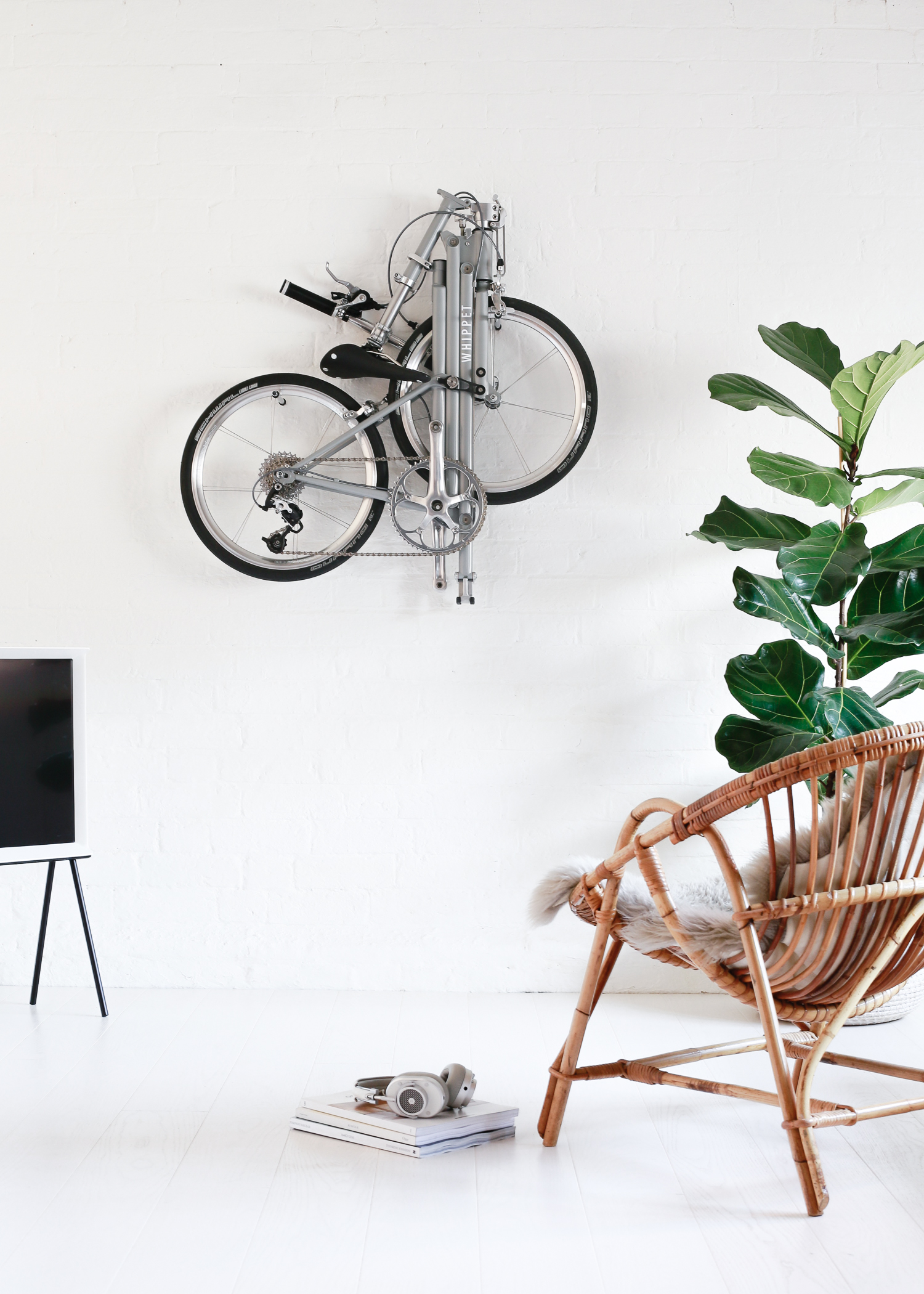 Whippet Bicycle - a new folding bicycle wall mounted
