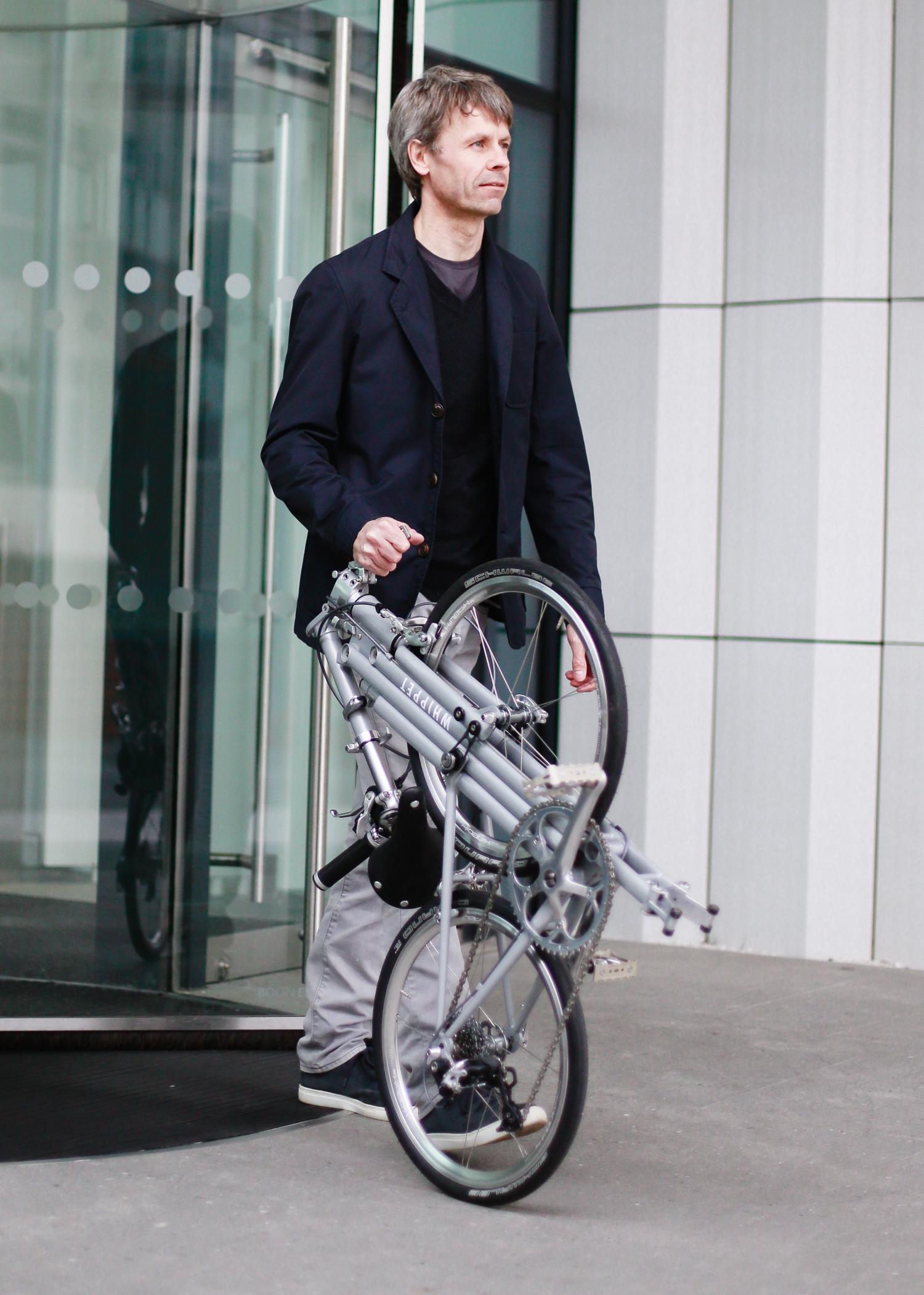 Whippet Bicycle - wheeling along