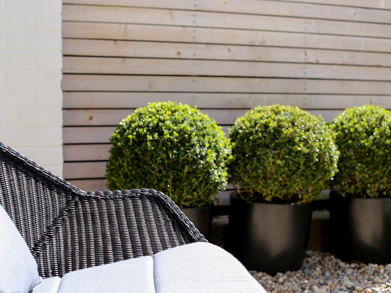 Black Cane-line rattan garden chair | Design Hunter