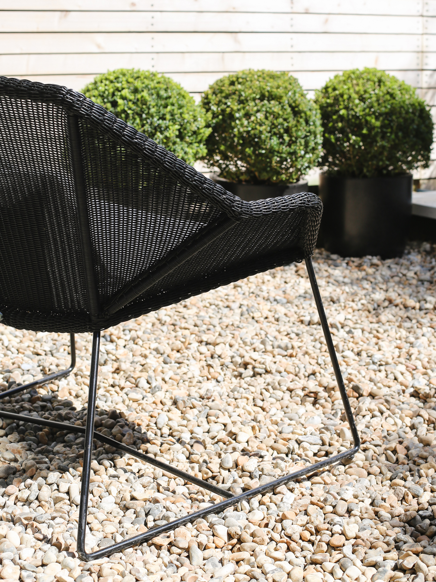 Black rattan Danish garden chair by Cane-line | Design Hunter