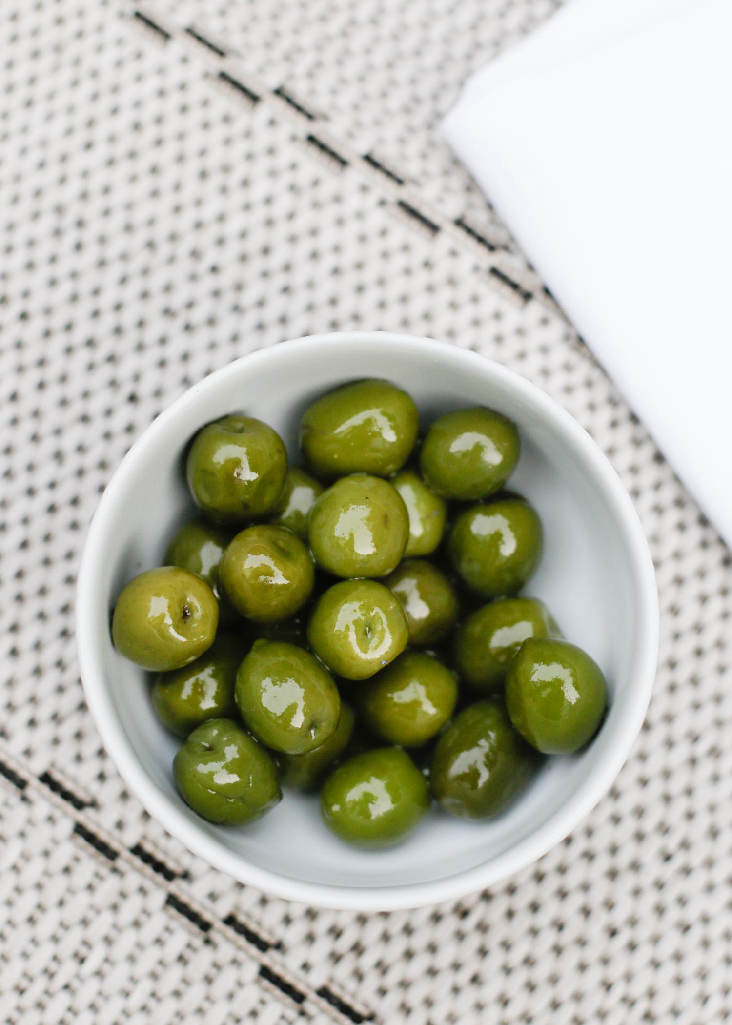 Bowl of green olives | Design Hunter