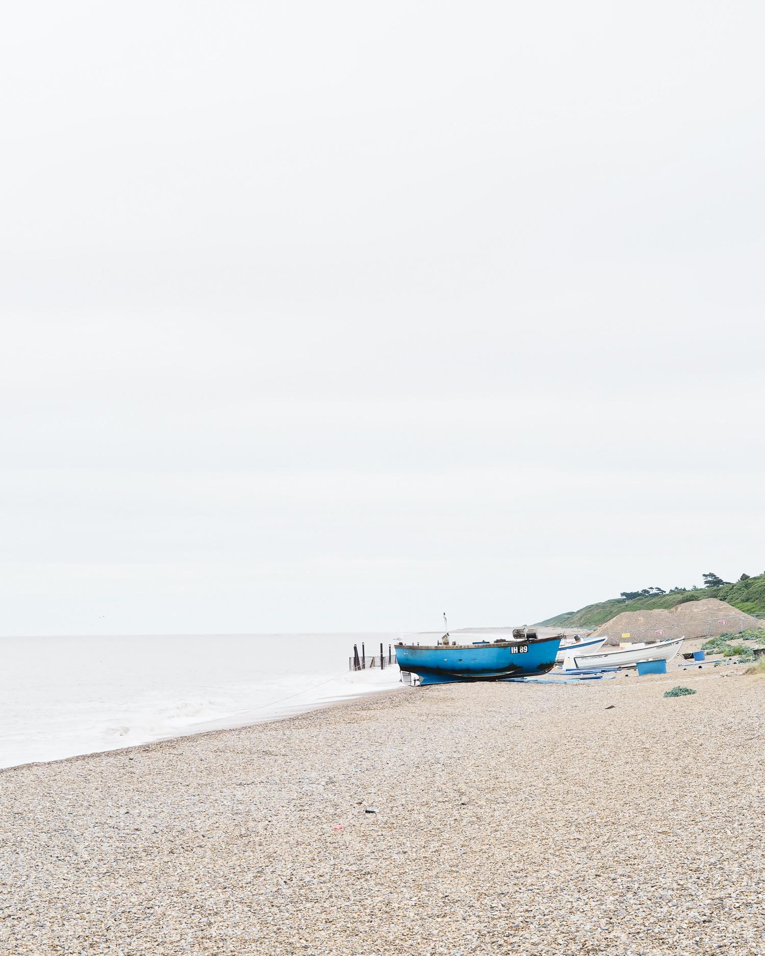 Boat on the beach in Suffolk | Design Hunter