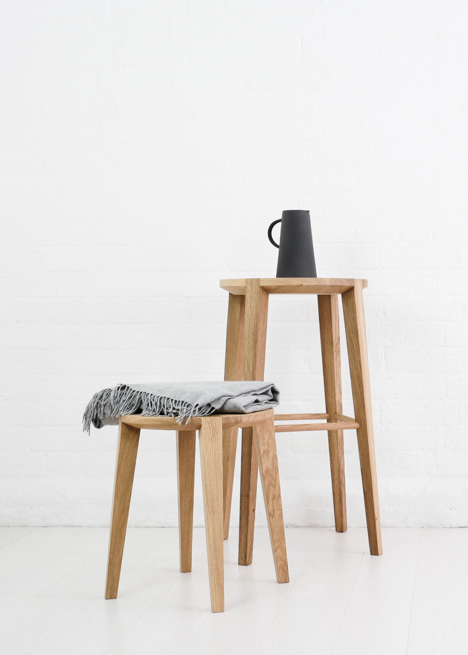Lara bar stool  and  Lara small side table  by Carsten Astheimer