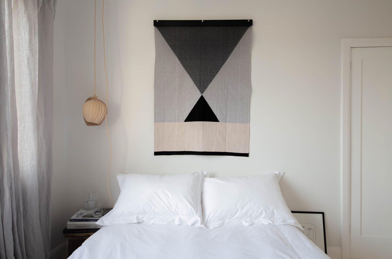 Handmade modern minimal quilt by Louise Gray | Design Hunter